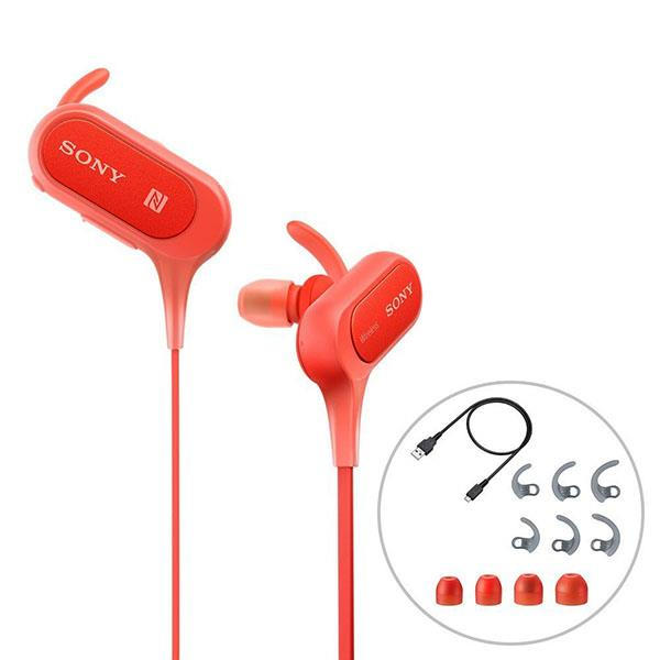 SONY MDR-XB50BS (RED) SPLASHPROOF WIRELESS SPORTS IN-EAR HEADPHONES