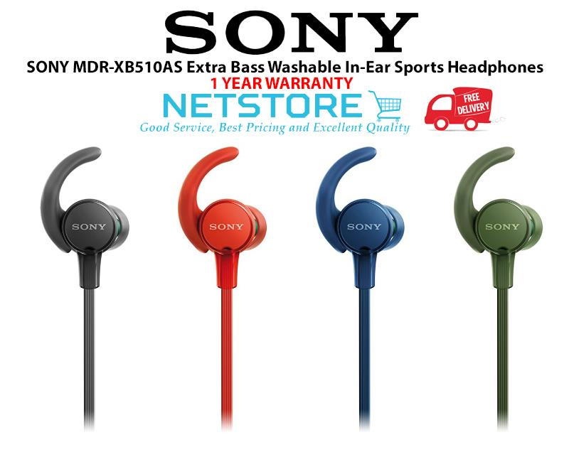 SONY MDR-XB510AS Extra Bass Washable In-Ear Sports Headphones