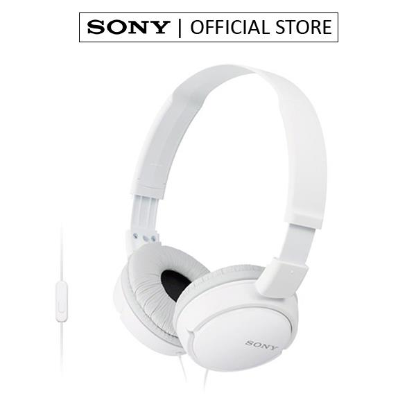 SONY MDR-ZX110AP EXTRA BASS SMARTPHONE HEADSET WITH MIC (WHITE)