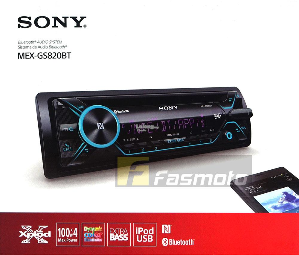 SONY MEX-GS820BT Single DIN Dual Bluetooth USB CD 100W x 4