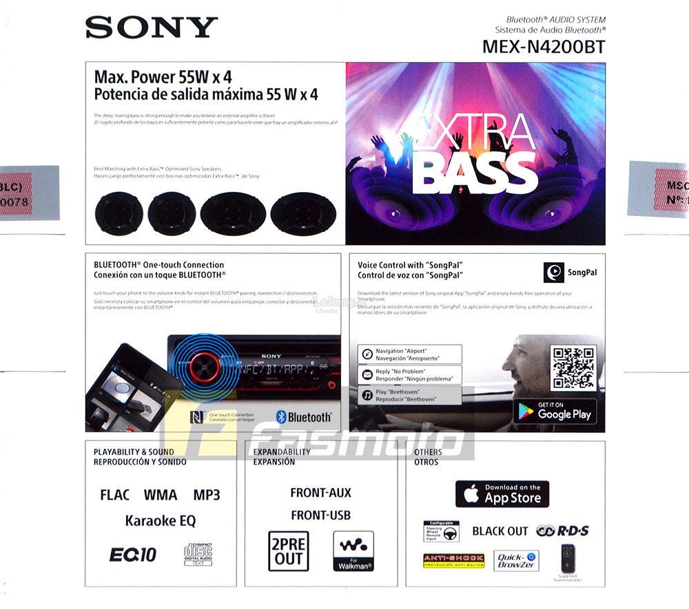 SONY MEX-N4200BT Single DIN Dual Bluetooth USB CD Car Radio