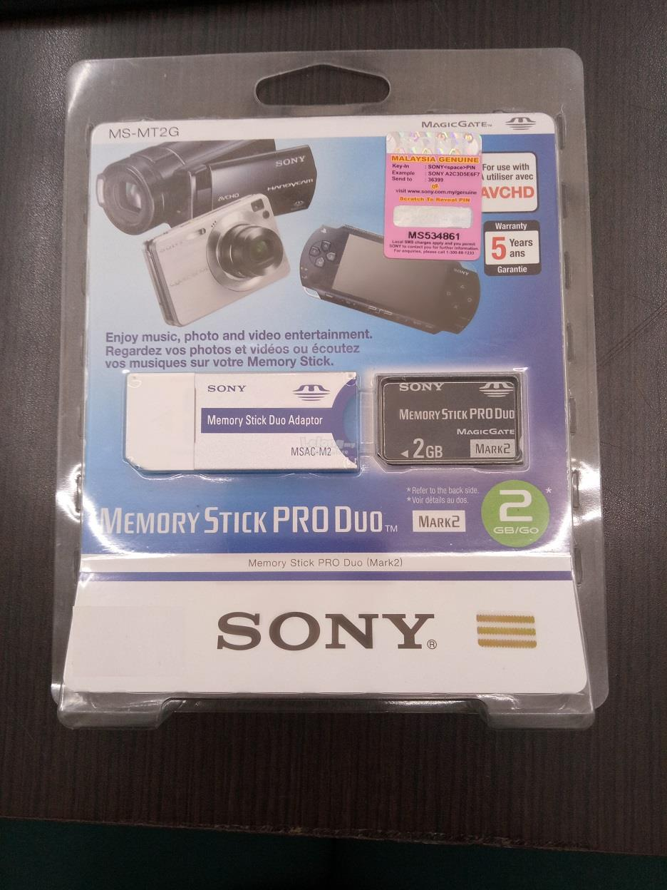 Sony MS-MT2G Memory Stick PRO Duo - 2GB