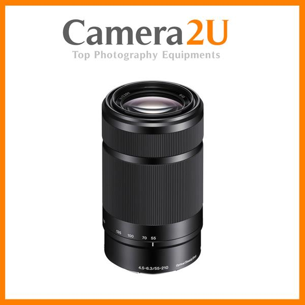 New Sony NEX E Mount 55-210mm F4.5-6.3 E-Mount SEL55210 Lens (Black)