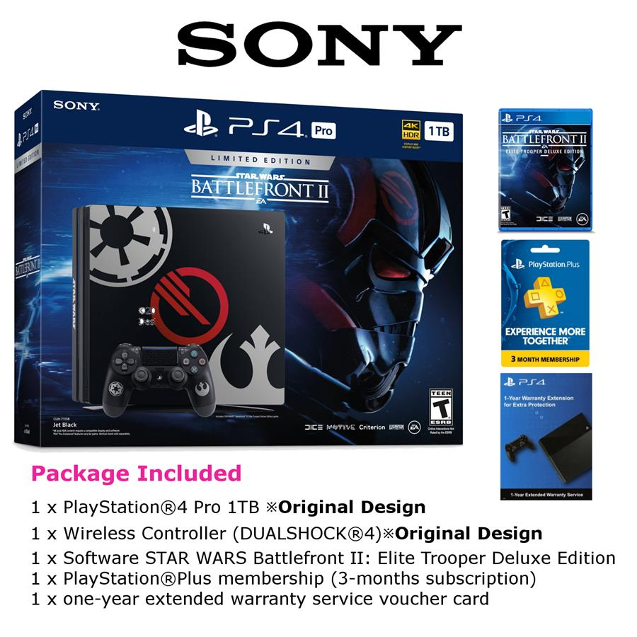 Sony Playstation 4 Pro Ps4 1tb End 6 13 2020 505 Pm Black Star Wars Battlefront Ii Limited