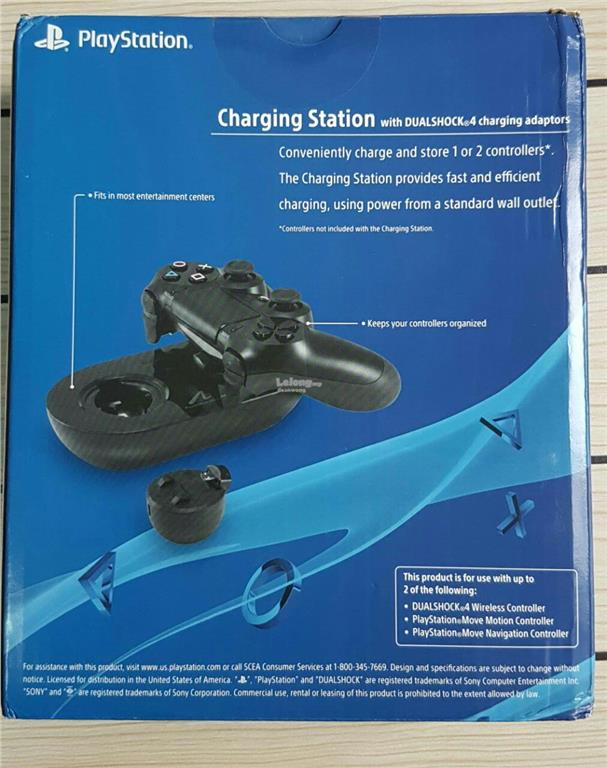 Sony Playstation Move with Dualshock 4 adaptors Charging Station