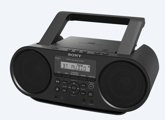SONY PORTABLE BT/NFC/USB/FM/CD/RADIO BOOMBOX ZS-RS60BT