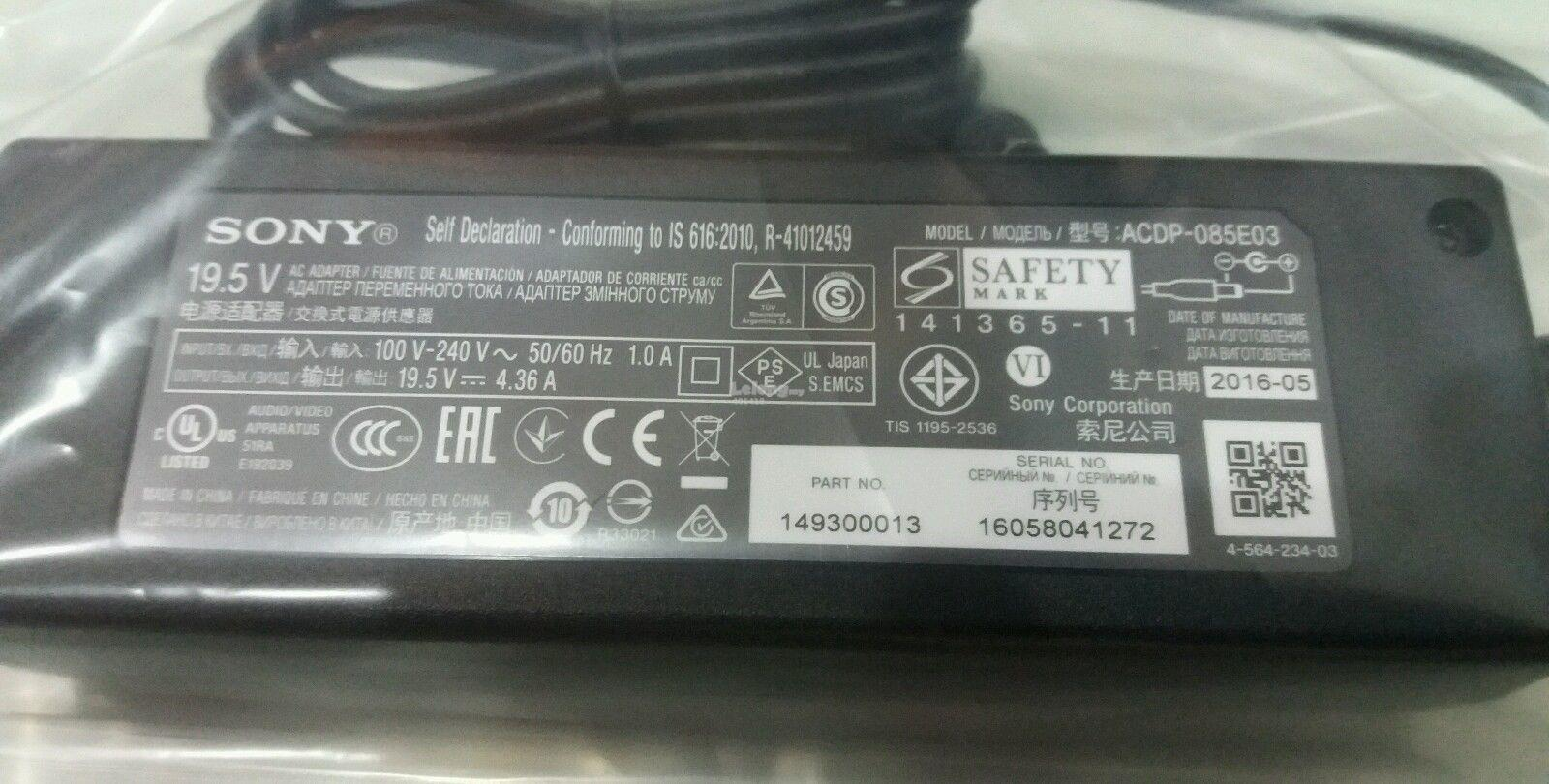 SONY POWER ADAPTER (ORIGINAL) 149300013 ACDP-085E03 19.5 V 4.36 Amps