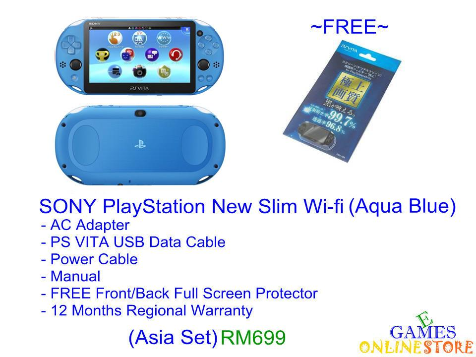 SONY PS VITA Wi-Fi Slim Console (Aqua Blue) ★Brand New & Sealed&..