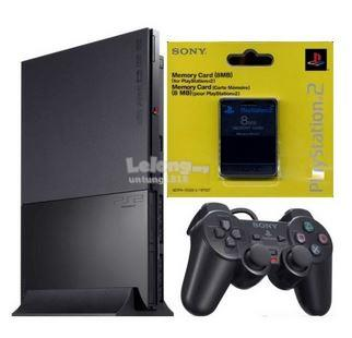 Sony PS2 Slim PlayStation 2 1 Memory 1 Ctrl