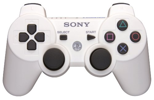 SONY PS3 DUALSHOCK 3 COMPATIBLE WIRELESS JOYSTICK CONTROLLER (WHITE)