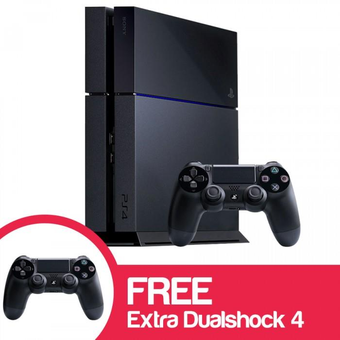 sony ps4 console. sony ps4 console (jet black) - 1 extra controller sony ps4 console y