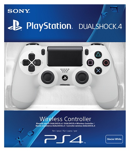 SONY PS4 DUAL SHOCK VIBRATION JOYSTICK CONTROLLER (WHT)