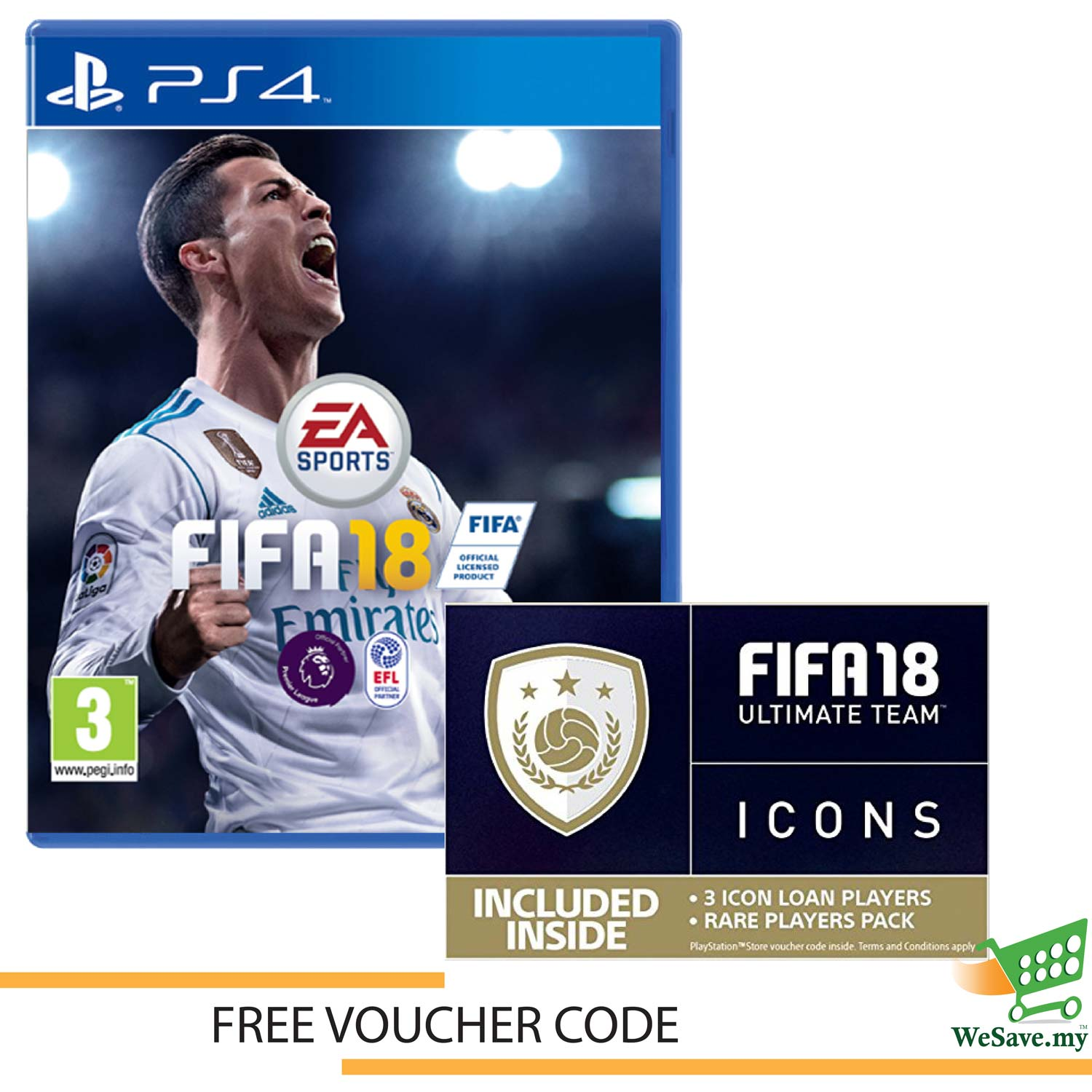 Fifa 18 Ps4 Price Harga In Malaysia Lelong Kaset Xbox 360 2018 Sony Game Standard Edition Playstation 4 Free Vo