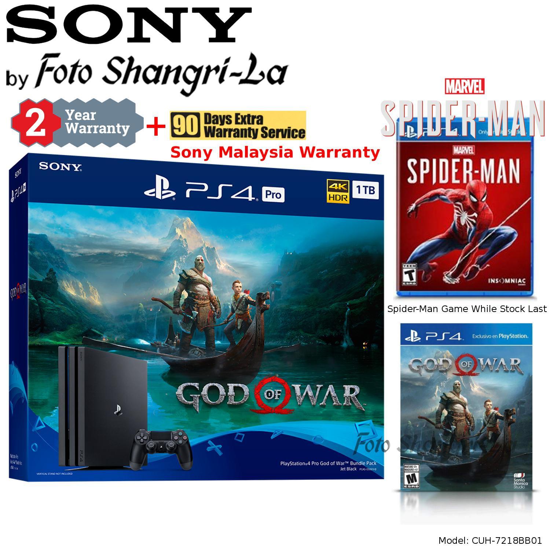 Sony PS4 Pro 1TB Playstation 4 Pro 1TB God Of War Bundle + Spider-Man Game