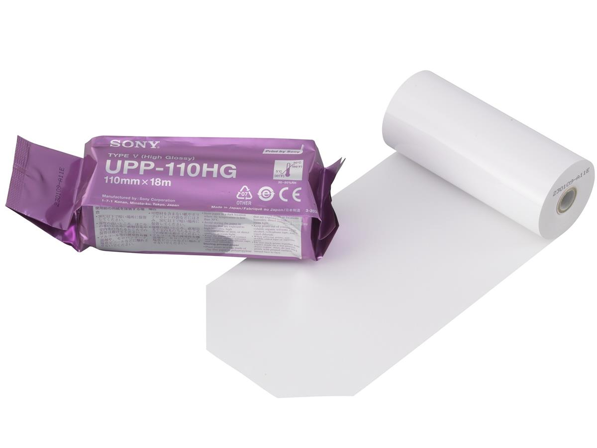SONY UPP-110HG High Glossy Thermal Paper for Ultrasound