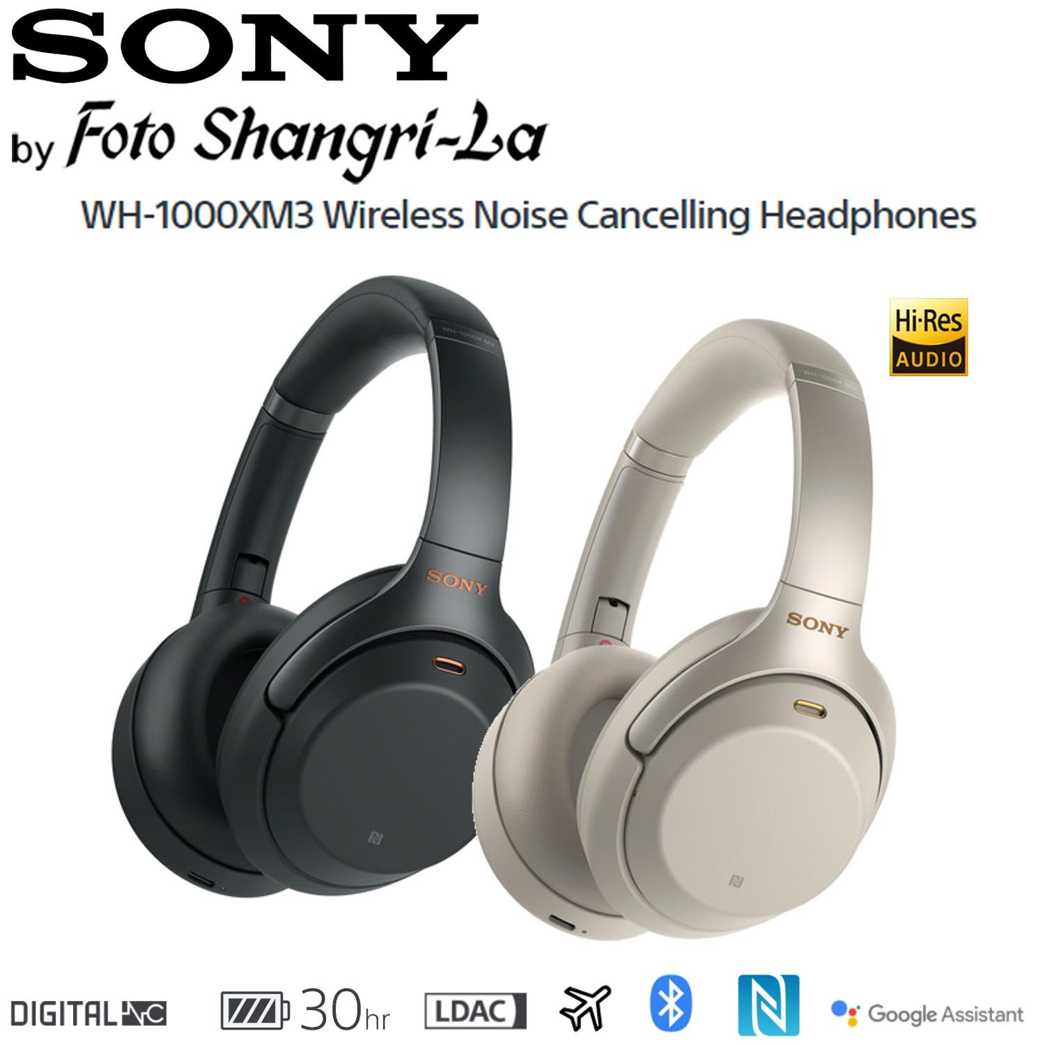 Sony WH-1000XM3 Wireless Noise Cancelling Headphones Over Ear Headsets