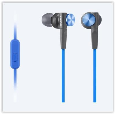 SONY WIRED EXTRA BASS MDR-XB55AP/LQ EARSET (BLUE)