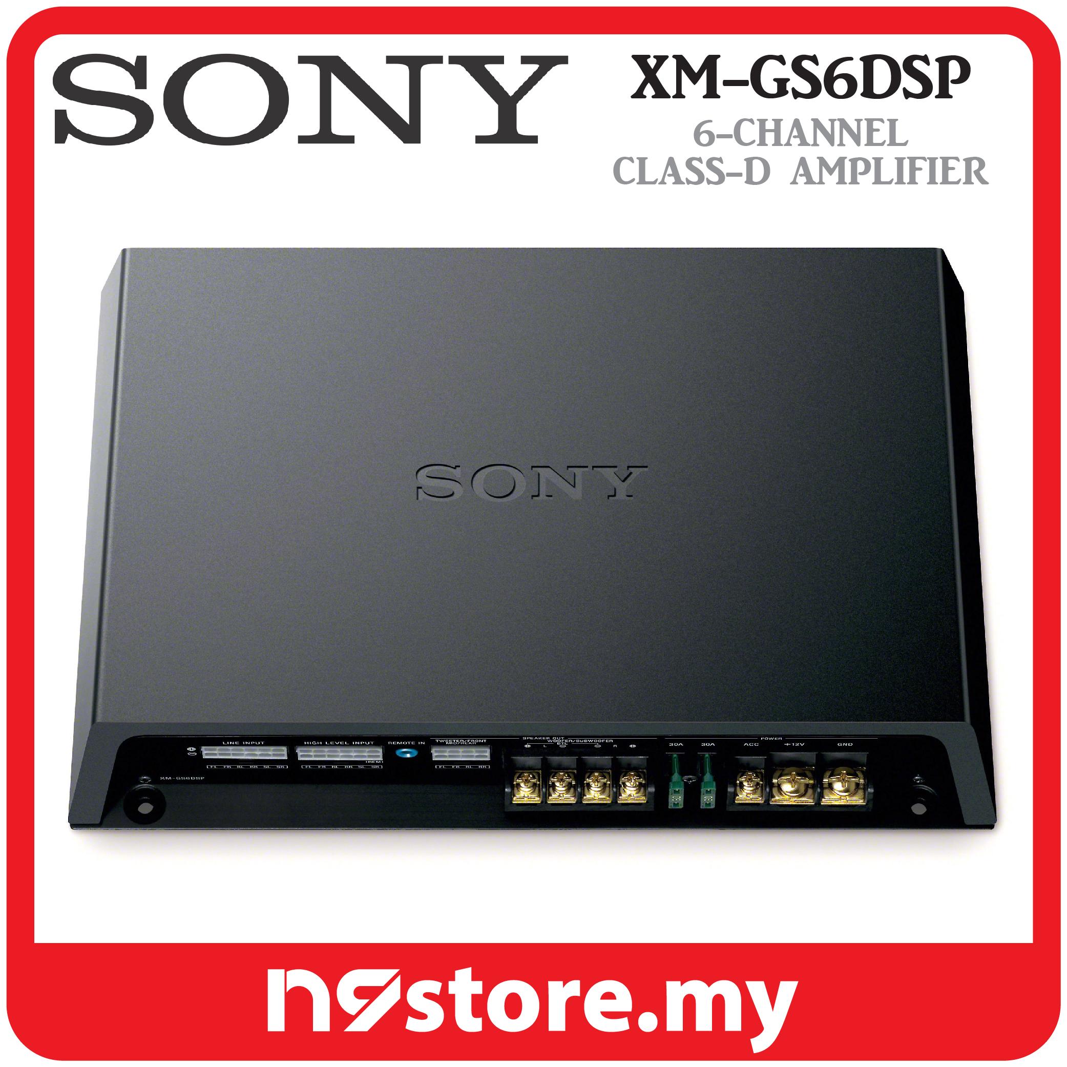 Sony XM-GS6DSP 6/5 Channel Class-D Amplifier With DSP 45W X 4 90W X 2