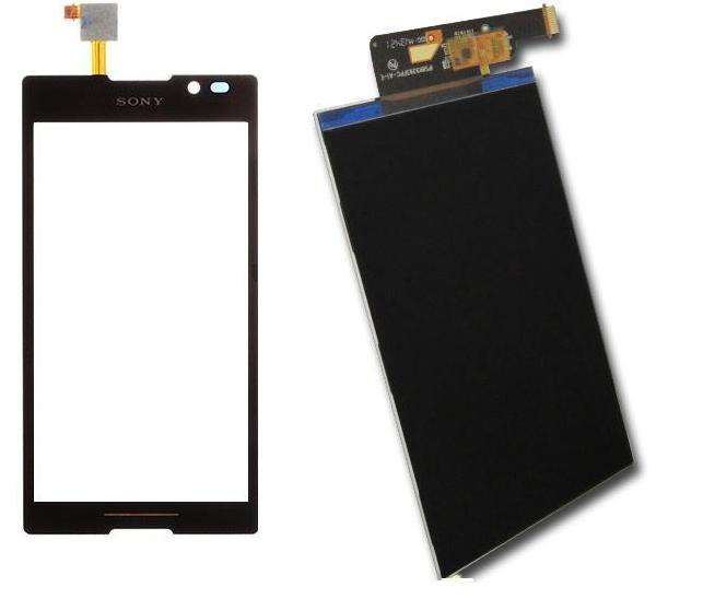 Sony Xperia C C2305 C2304 Display Lcd / Digitizer Touch Screen B/W