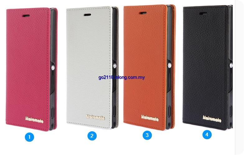 Sony Xperia M2 Aqua D2403 D2406 Geniune Leather Flip Case Cover Casing