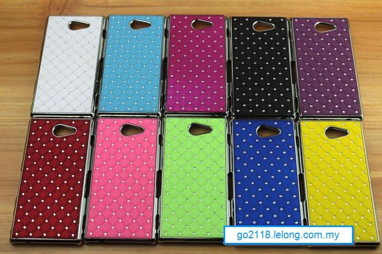 Sony Xperia M2 S50H D2303 Rhinestone Back Case Cover Casing
