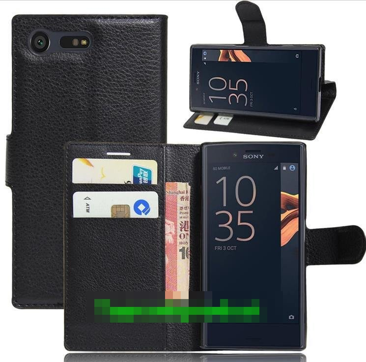 Sony Xperia X Compact Flip Card Slot Stand Case Cover Casing