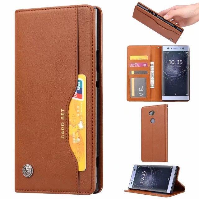 promo code 854ac 1b549 Sony Xperia XA2 Ultra Card Slot Flip Wallet Case Casing Cover
