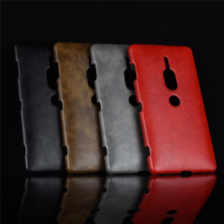 Sony Xperia XZ2 Premium Back Leather Skin Case Casing Cover