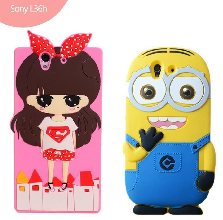 Sony Xperia Z L36H ShakeProof Cartoon Silicone Case Cover Casing