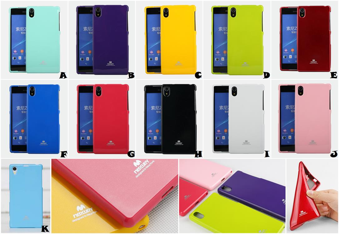 Sony Xperia Z1 L29h Z2 L50w MERCURY GOOSPERY JELLY Case Cover *FREE SP