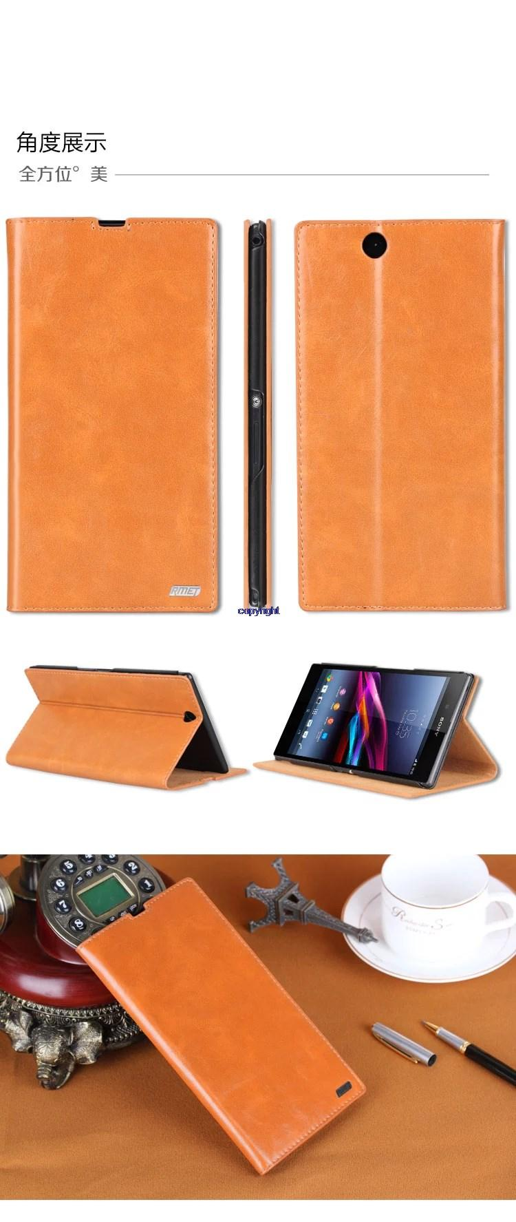 Sony Xperia Z1 Ultra L39H XL39H Genuine Leather Flip Case Cover Casing
