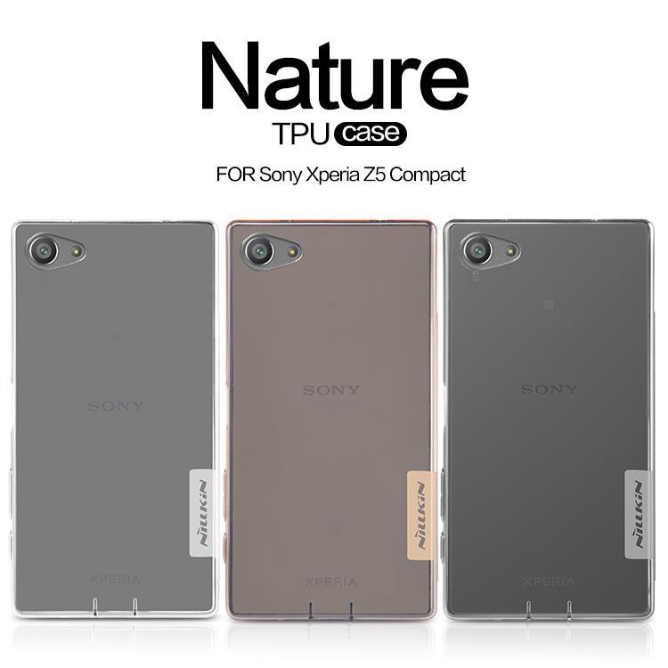 new product 467fd 8a7e5 Sony Xperia Z3 Plus Z4 Z5 Compact M4 Aqua Nillkin Nature TPU Case