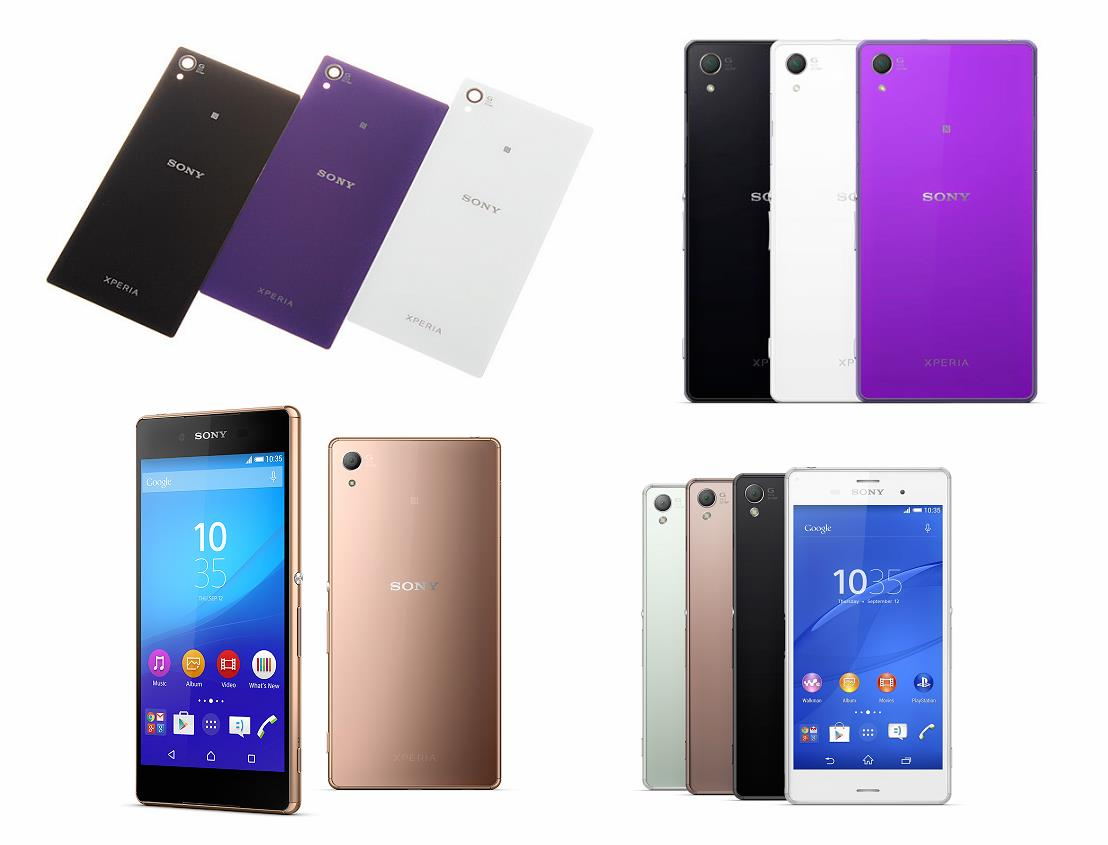 factory price 340bf 1d263 Sony Xperia Z3 Z3 Battery Back Cover Glass Housing Replacement