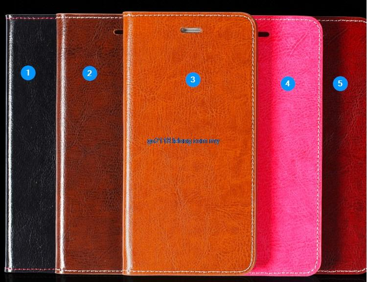 Sony Z3 Compact Genuine Leather Cowhide Case Casing Flip Cover
