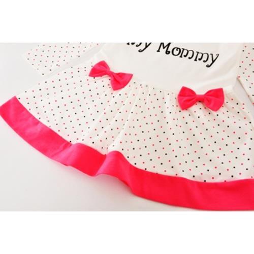 d7e50fd1f SOSOCOER BABY GIRLS DRESS I LOVE MY MOMMY POLKA DOT CHILDREN CLOTHING