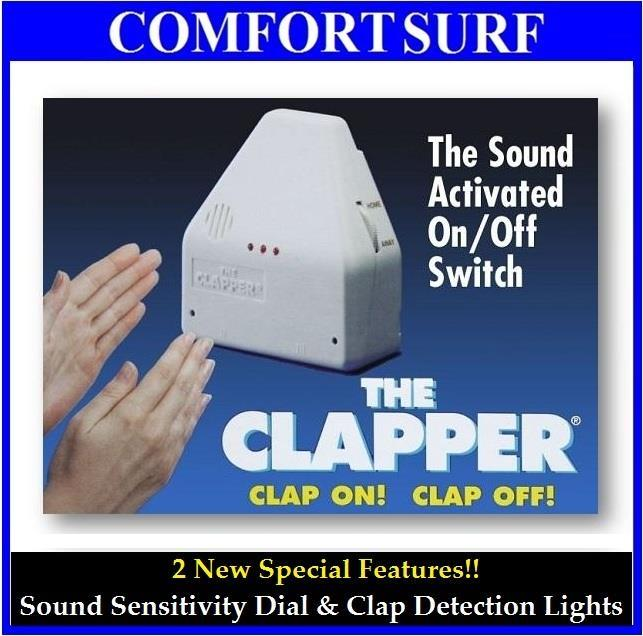 Sound Activated Light On/Off The Clapper Switch Security Device. U2039 U203a