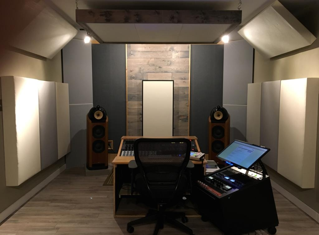 Sound proof control cut echo acoustical theater recording music room