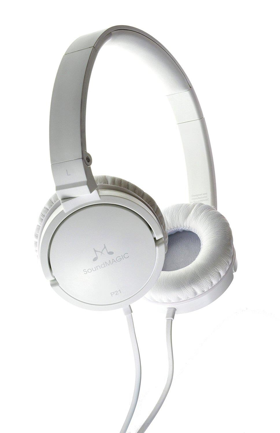 SoundMAGIC P21 On-Ear Headphones (White)