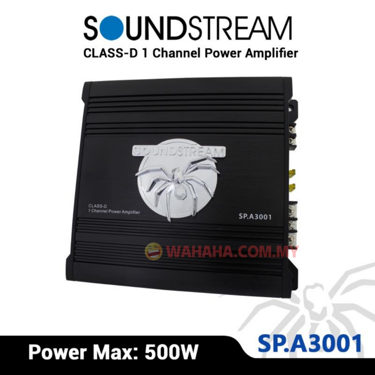SoundStream SP A3001 Mono Block CLASS-D 1 Channel Power Amplifier 500W