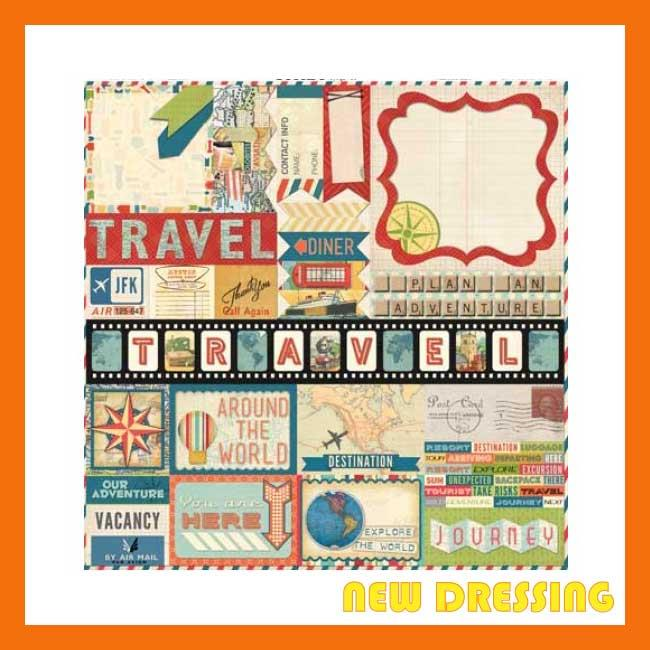 Souvenir (12' x 12' Sticker Sheet) - Zakka/Diary/Photobook DIY