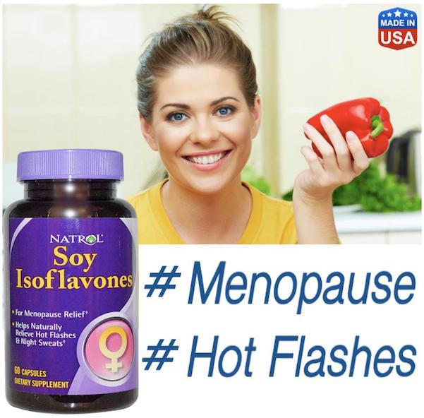 Soy Isoflavones, 60 Capsules, Menopause, Hot Flashes, Night Sweats