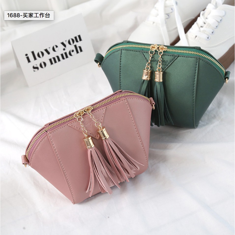 SP Glossy Sling Bag Shoulder Beg Tangan Bags Women Handbag