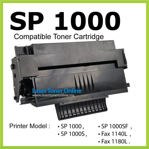 SP1000 Compatible Ricoh Aficio SP1000S SP1000SF SF Laser Printer Toner