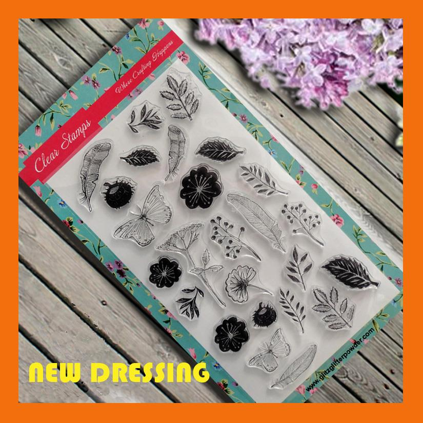 SP191 - Leaves and Flower Clear Stamp