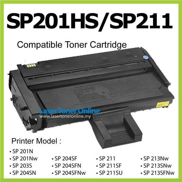 SP201HS/SP211 Compatible Ricoh SP 201N 201Nw 203S 204SN SP203 SP204 SN