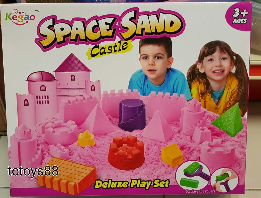 Space Sand Kegao Castle Deluxe Play Set / Kinetic sand
