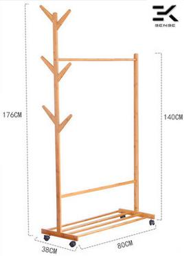 2IN1 Wood Clothes Hang (end 8/17/2018 2:15 PM)