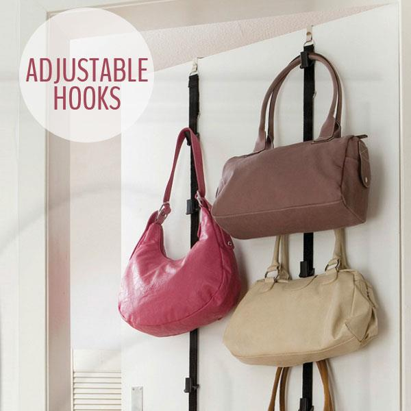 Space Saving Adjustable Door Straps Bag Rack U0026 Hat Organizer Hanger