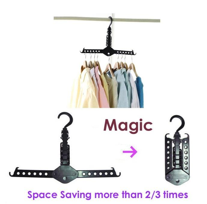 Space Saving Foldable Magic Clothes Hanger