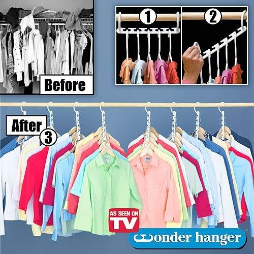 Space Saving Magic Wonder Hanger Closet Organizer (8pcs)